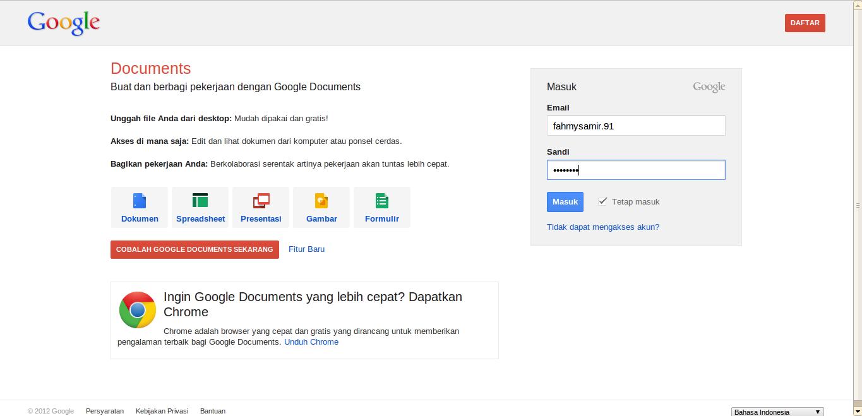 cara menggunakan google docs mohamad